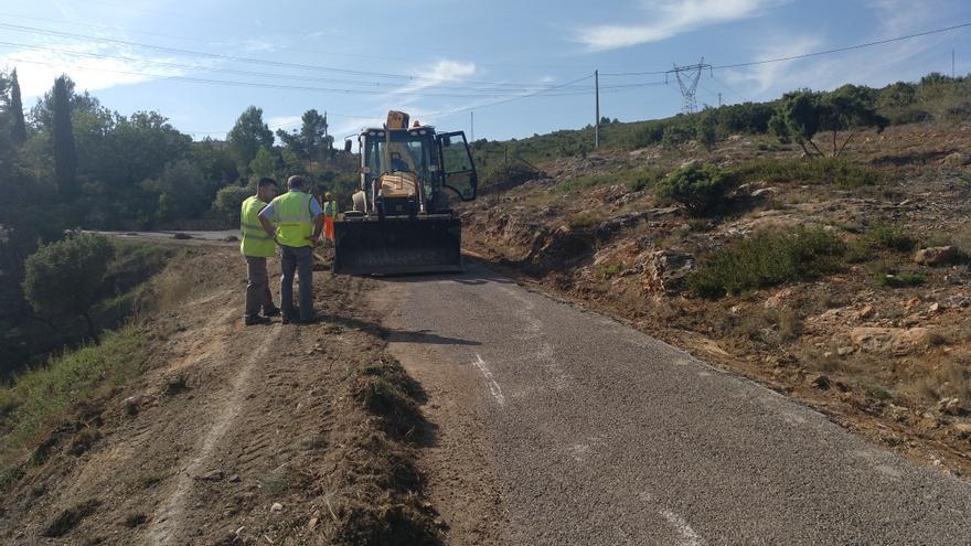 Imagen de las obras en la carretera CV-4290