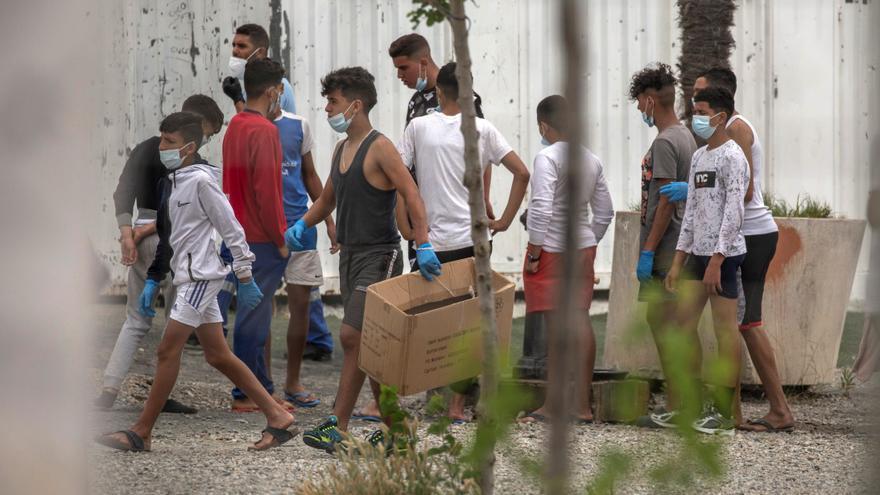 Menores migrantes EFE/ Brais Lorenzo