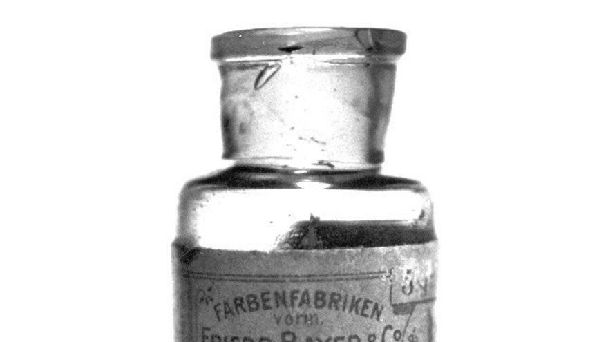 Un frasco de heroína marca Bayer. /Wikicommons
