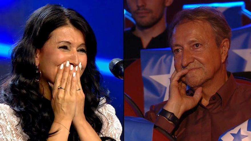 Belén Elvira / Paco Lobatón en 'Got Talent'