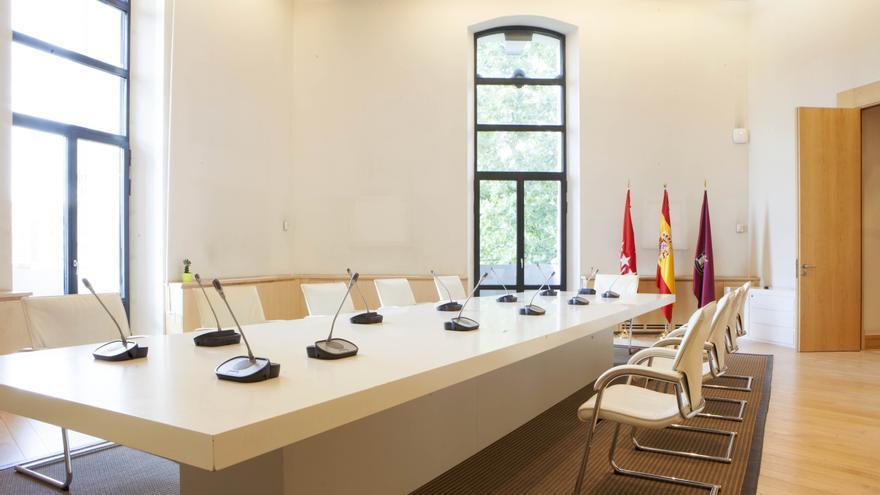Nueva sala de Juntas de Gobierno, construida en parte de lo que hasta ahora era el despacho de la alcaldesa. / Ayutamiento de Madrid.