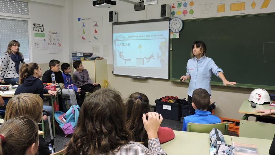 Alumnos en una escuela valenciana