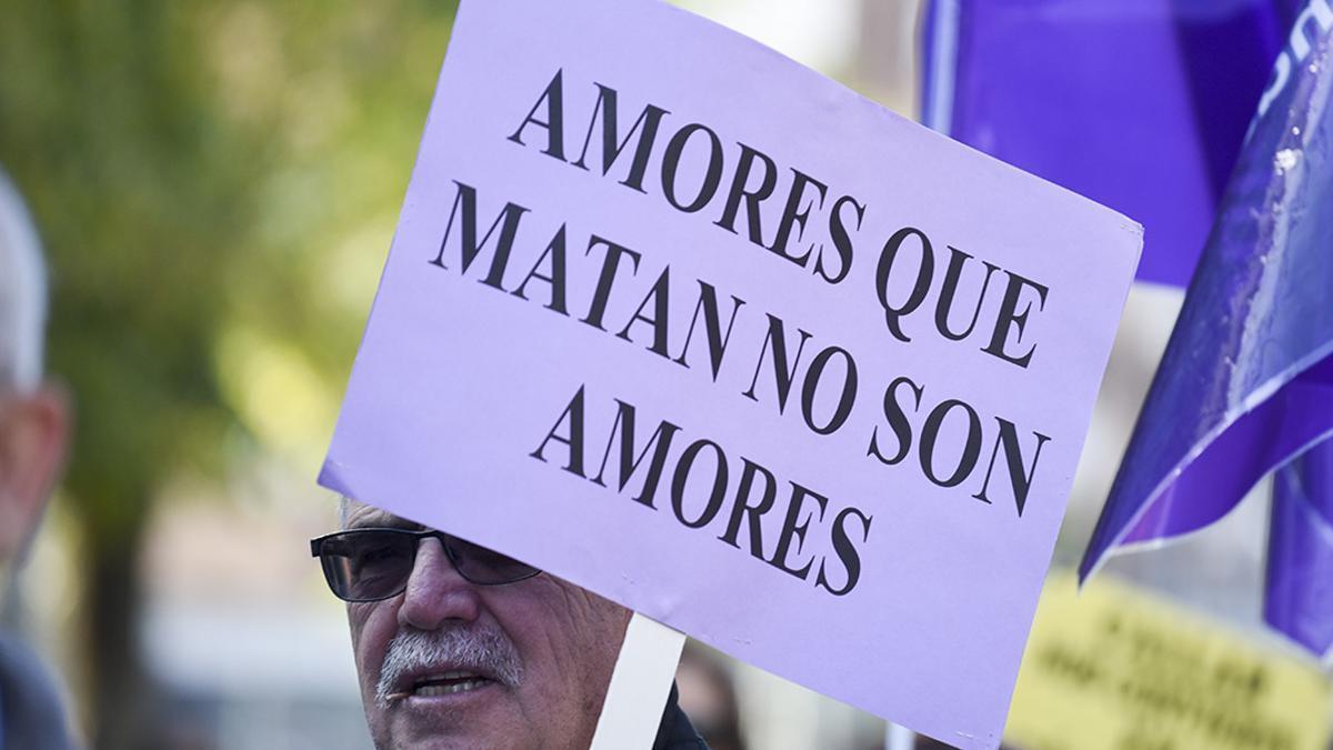 Una pancarta en una manifestación contra la Violencia Machista