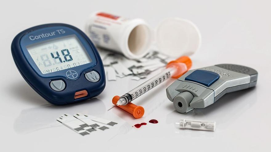 Kit de control de la diabetes. (DP).