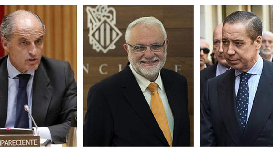 Francisco Camps, Juan Cotino y Eduardo Zaplana