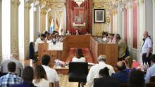 Pleno del Ayuntamiento de Las Palmas de Gran Canaria de este viernes, 28 de julio de 2017.