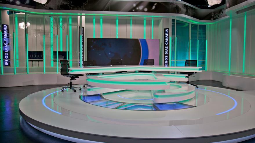 Plató de informativos de la Televisión Canaria