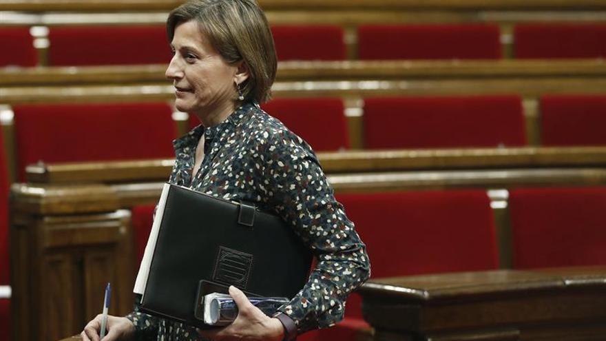 "Forcadell destaca la ""irreparable"" pérdida de Carme Chacón"