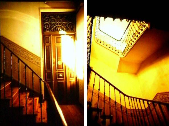 Imágenes de los años noventa de la escalera interior del edificio Lamarca Hermanos   Fotografías: Ayuntamiento de Madrid