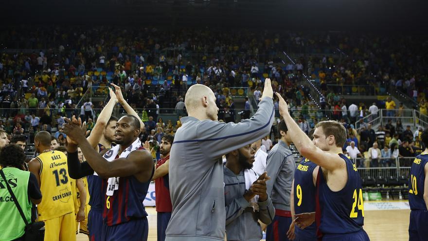 Inauguración del Gran Canaria Arena con el partido entre el Herbalife Gran Canaria y el Fútbol Club Barcelona