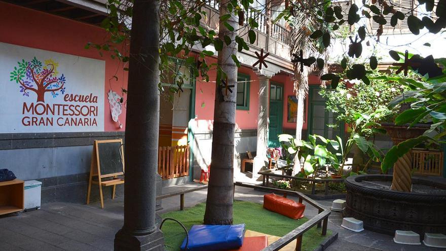 Patio interior de la Escuela Montessori de Gran Canaria.