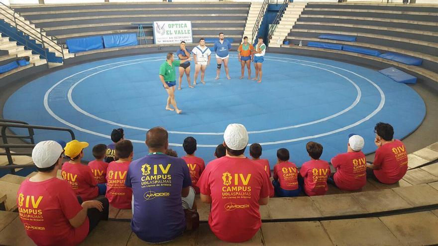 Participantes en el programa municipal 'Los Llanos es Deporte en Verano'. Foto cedida por el Ayuntamiento de Los Llanos.