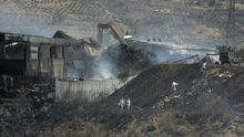 Labores de extinción del fuego de Chiloeches el pasado mes de agosto