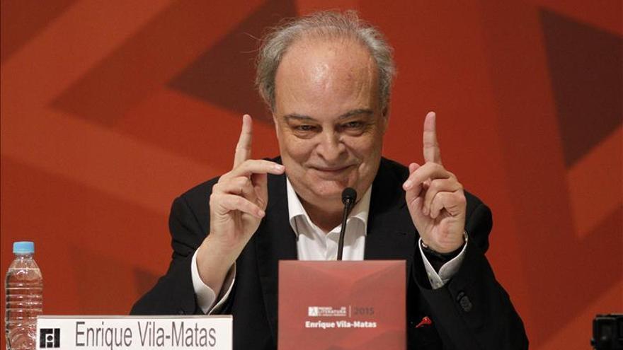 Vilas-Matas, durante la FIL.