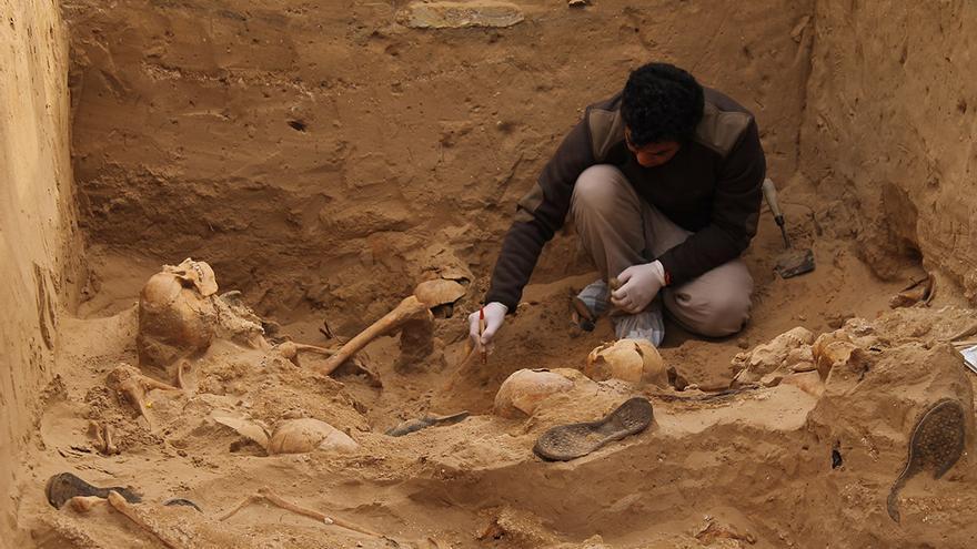 Los restos óseos evidencian la comisión de crímenes de lesa humanidad. / JUAN MIGUEL BAQUERO