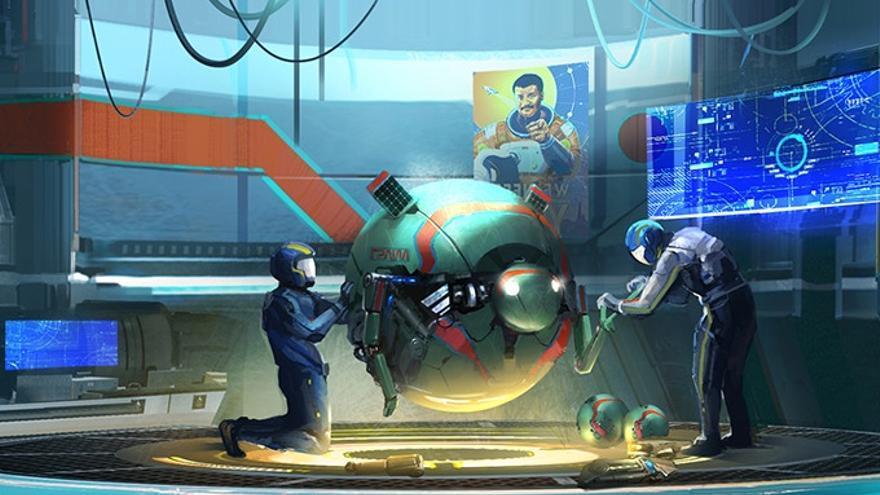 Boceto del videojuego 'Space Odyssey'