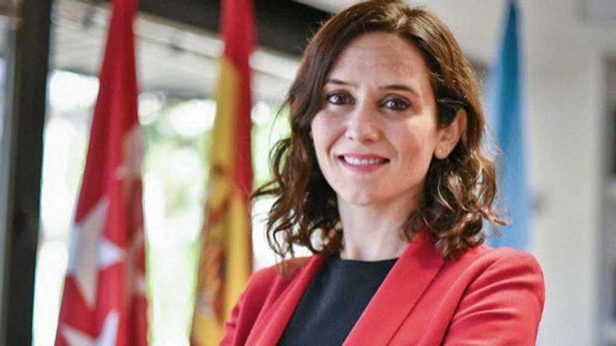 Isabel Díaz Ayuso, del Partido Popular (PP), presidenta de la Comunidad Autónoma de Madrid y candidata a un segundo mandato.