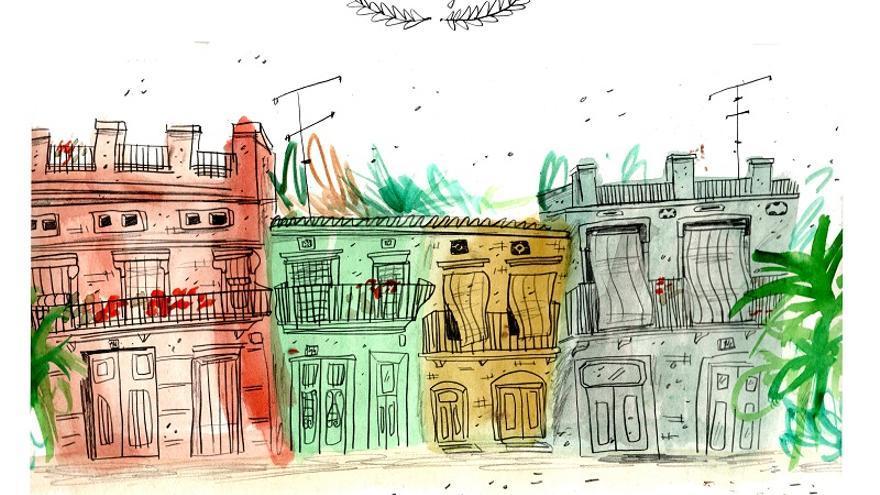 La cafetería Llépol acoge las primeras seis obras de un proyecto impulsado por Espai Rambleta.
