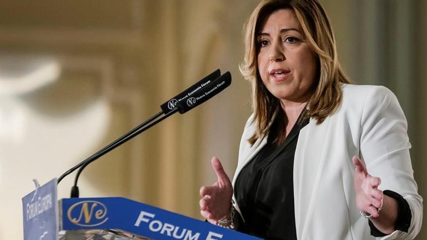 La presidenta andaluza, Susana Díaz, en el desayuno de Nueva Economía Fórum