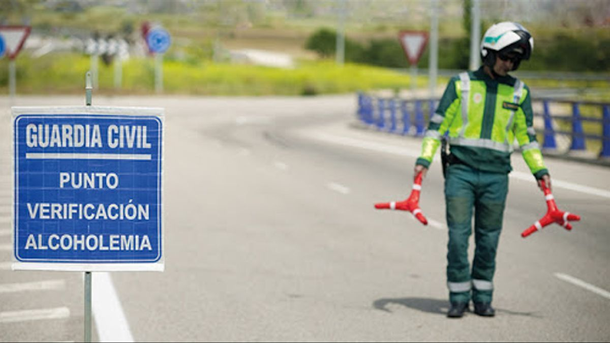 Control d'alcoholèmia de la Guàrdia Civil.