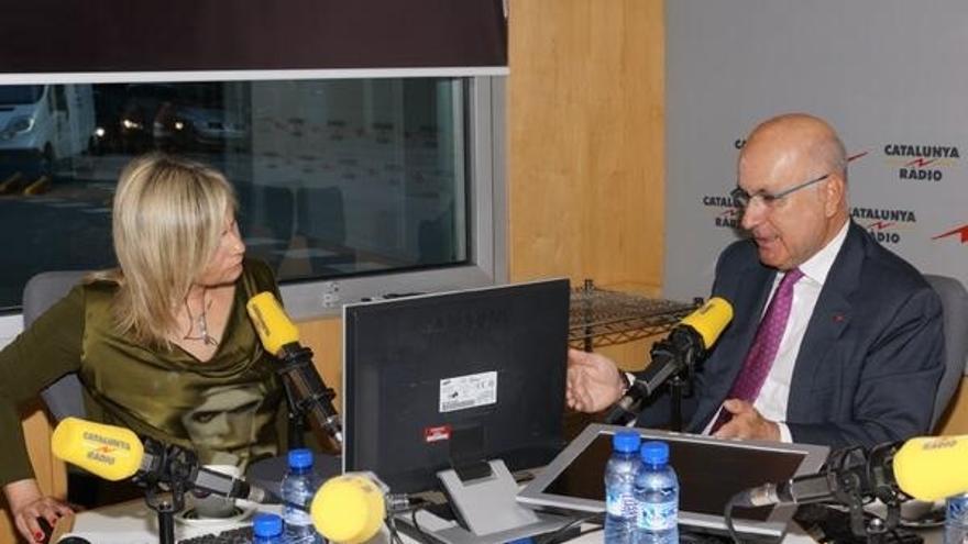 Duran, durant l'entrevista a Catalunya Ràdio.