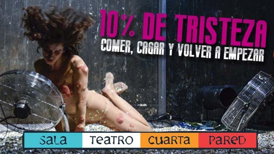 10% Tristeza\' en la Sala Teatro Cuarta Pared