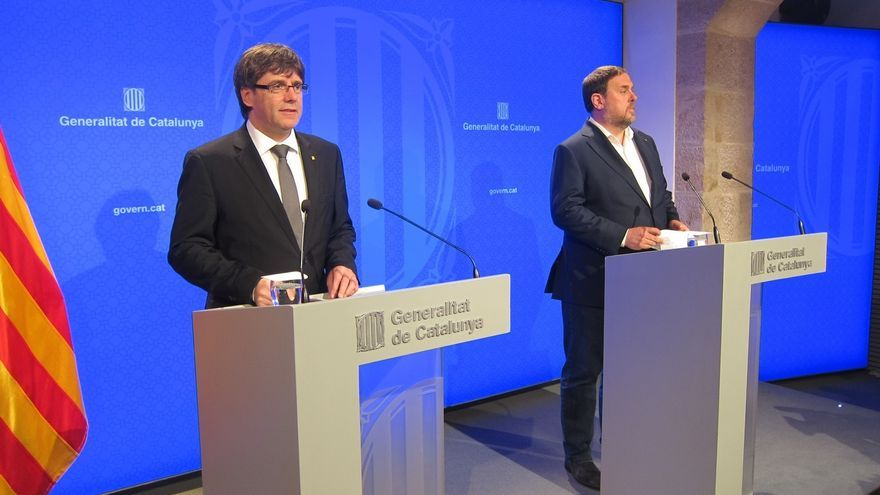 Puigdemont y Junqueras abrirán este jueves la campaña conjunta pese a la suspensión del referéndum