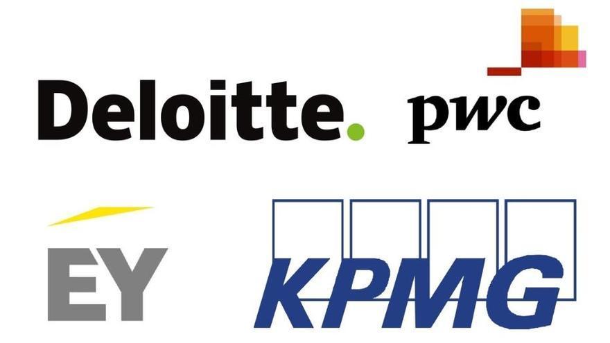 Las auditoras Deloitte, PwC, EY y KPMG