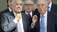 Martín Villa, Eduardo Serra y Marcelino Oreja . EFE/ Juan Carlos Cárdenas