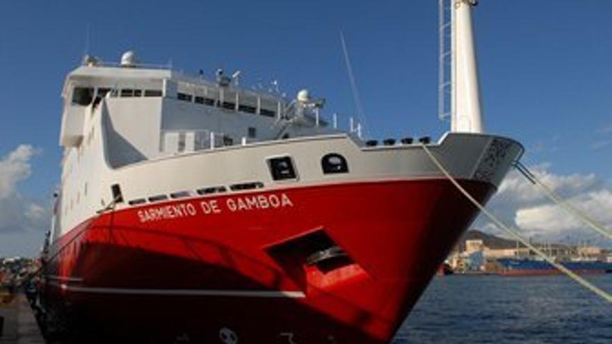 El 'Sarmiento de Gamboa'. (ACFI PRESS)