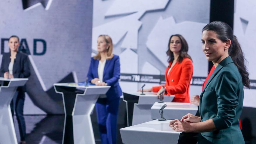 Rocío Monasterio durante el último debate de la campaña electoral.