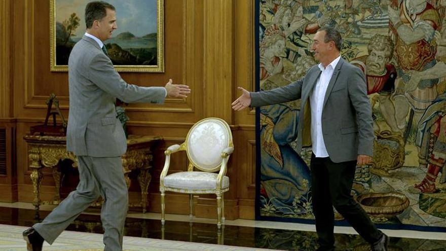 Baldoví expone al Rey su opinión sobre una alternativa al Gobierno de Rajoy