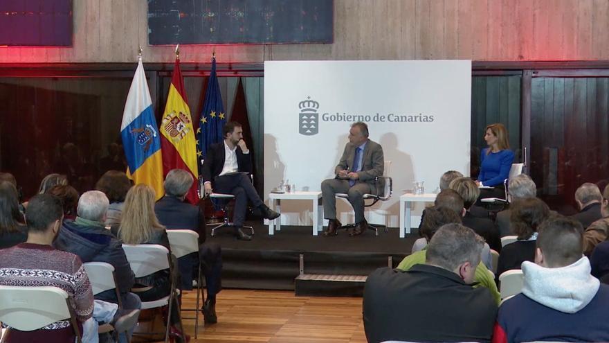 Ignacio Escolar entrevista al presidente del Gobierno de Canarias.