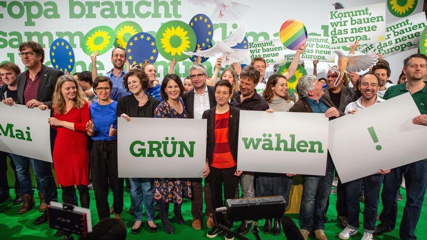 Los Verdes registran un fuerte avance en las elecciones europeas alemanas.