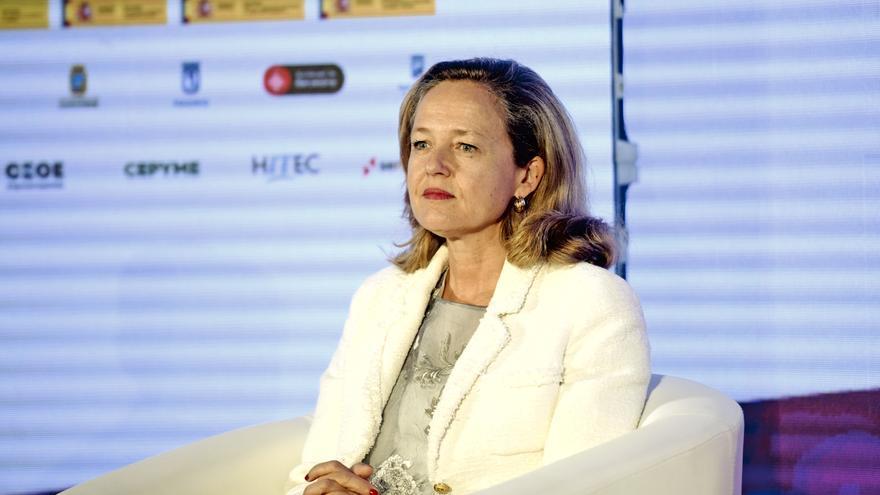 La vicepresidenta tercera de Asuntos Económicos y Transformación Digital, Nadia Calviño, durante la inauguración del Encuentro de la Economía Digital y las Telecomunicaciones de Ametic, en Madrid (España), a 2 de septiembre de 2020.