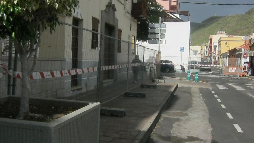 Zona de obras de la calle Ruiz de Padrón en San Sebastián