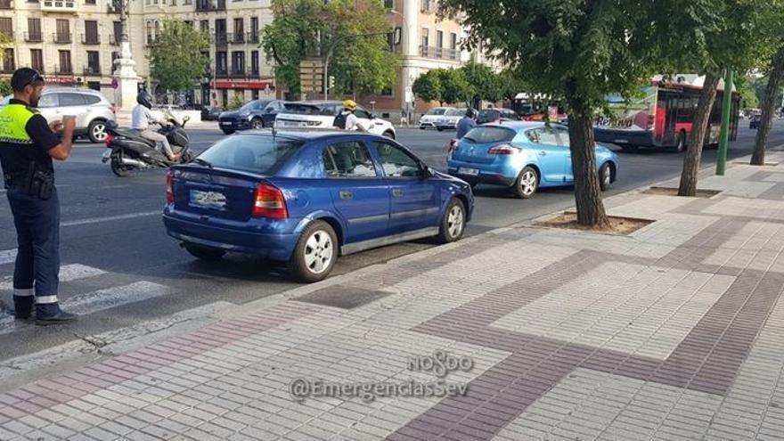 La Policía Local retiene el coche que conducía Ángel Boza, miembro de la manada.