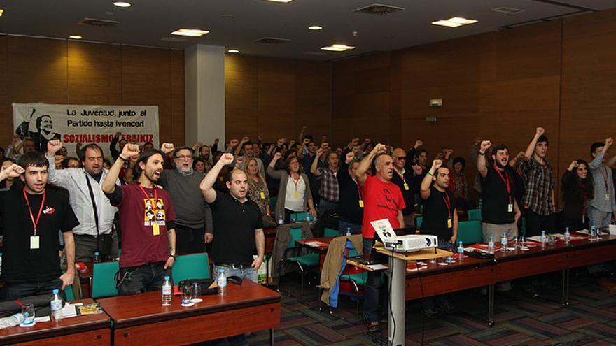 Un momento del XIV congreso del Partido Comunista de Euskadi, celebrado en marzo de 2014.