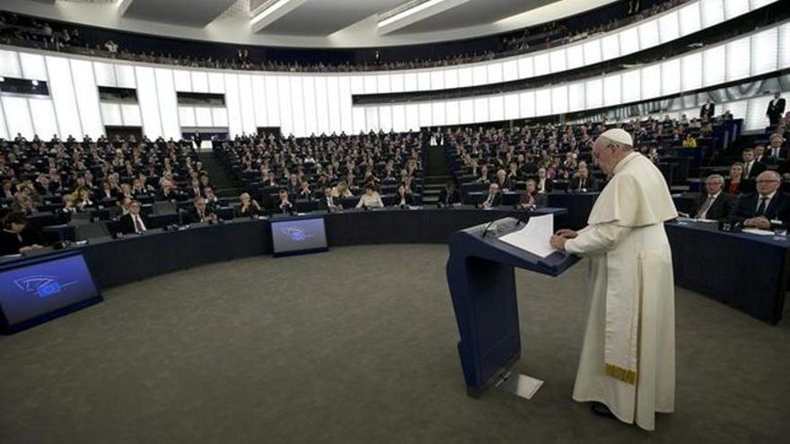 Francisco, ante el Parlamento Europeo
