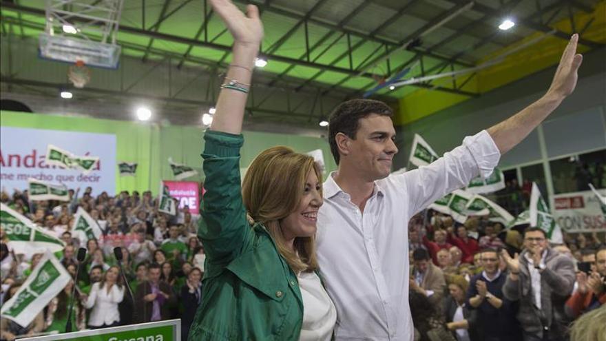 Pedro Sánchez y Susana Díaz. / EFE.