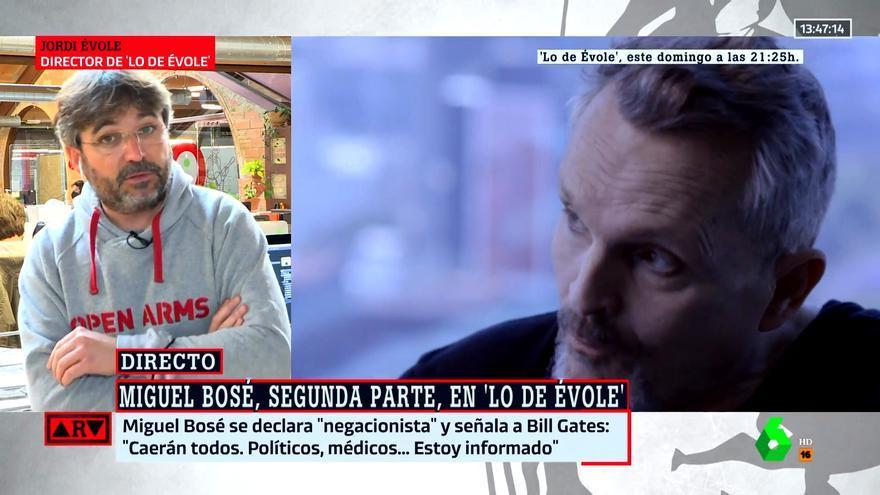 Évole desvela el mensaje que le envió Bosé al ver la entrevista