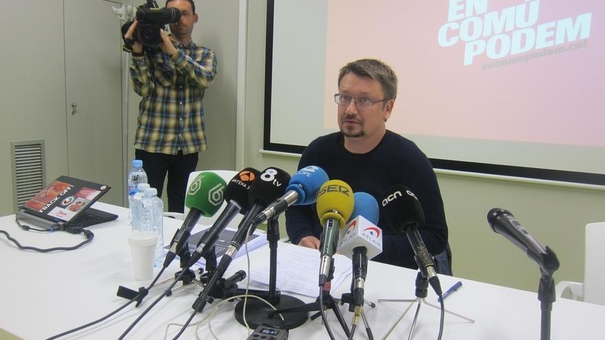 """Domènech cree que DL y ERC podrían """"apoyar"""" un Gobierno si prospera el documento de Podemos"""