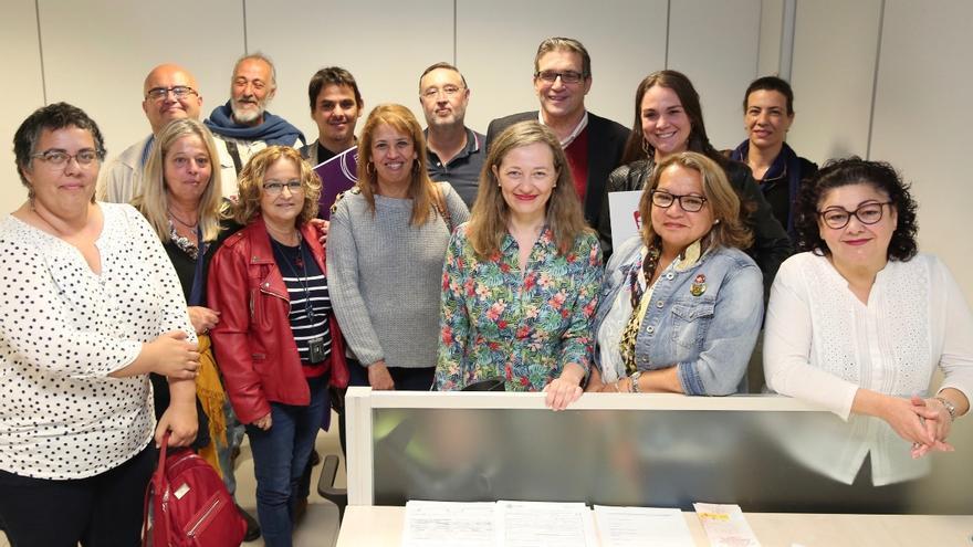 Victoria Rosell y Meri Pita presentan las listas de Unidas Podemos al Congreso por la provincia de Las Palmas