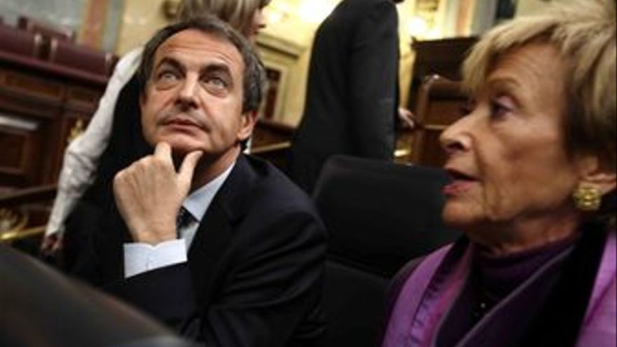 Presidente del Gobierno, José Luis Rodríguez Zapatero, y la vicepresidenta prime
