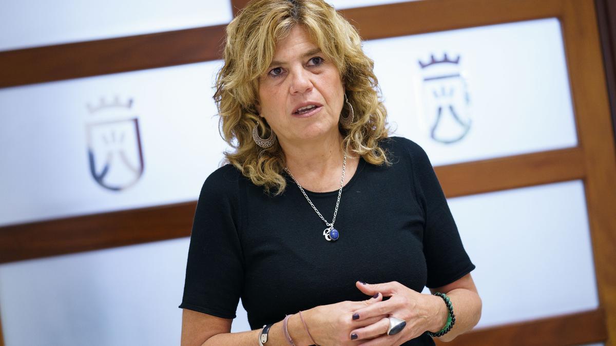 María José Belda, portavoz de Sí Podemos Canarias en el Cabildo de Tenerife