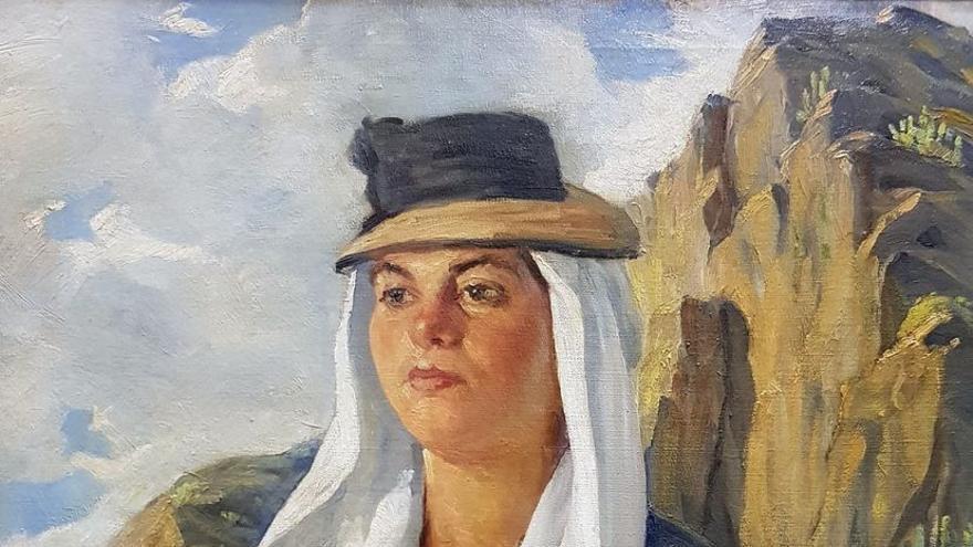 Retrato de mujer del tinerfeño Pedro de Guezala