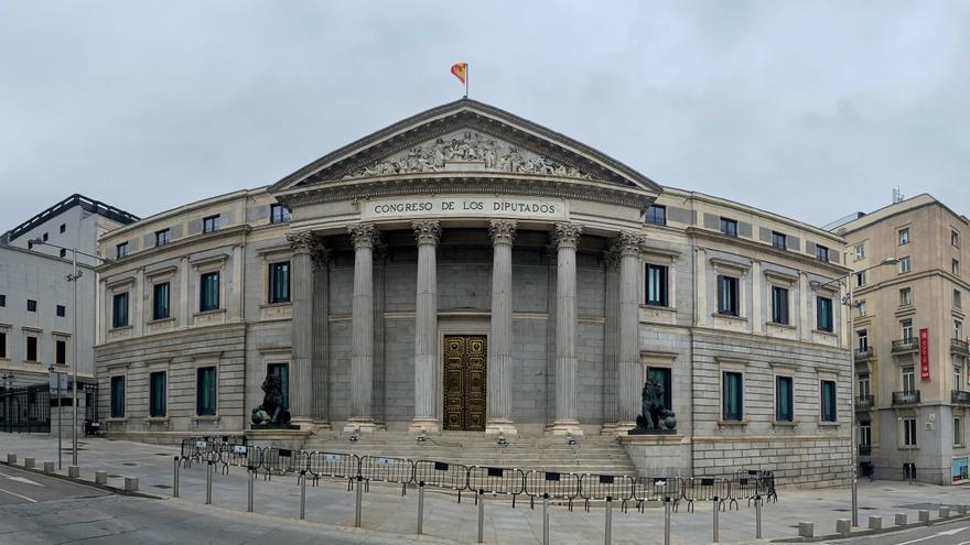 Archivo - Fachada del Congreso de los Diputados