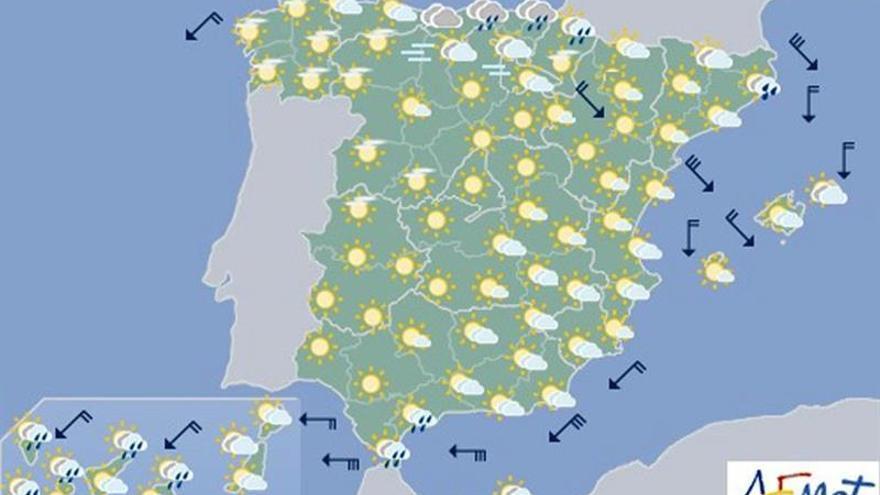 Hoy, tormentas intensas en Cataluña y temperaturas más bajas de lo normal