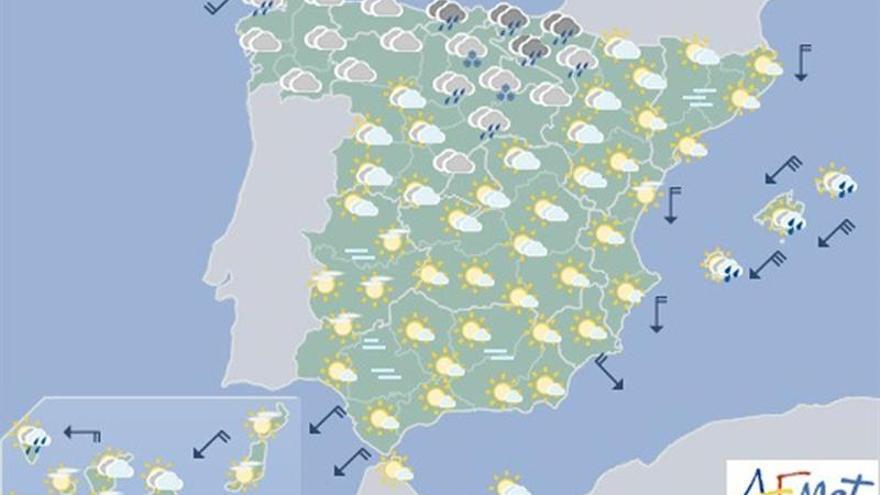 Las lluvias seguirán mañana en Baleares y en amplias zonas del norte peninsular