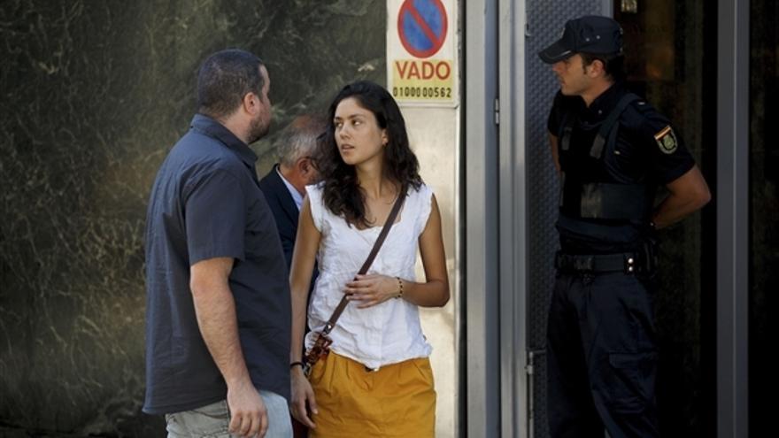 Matilde, activista de Greenpeace herida por la Armada, en la Audiencia Nacional (GREENPEACE)